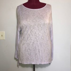 Apt. 9 Lavender Silver Studded High Low Tee